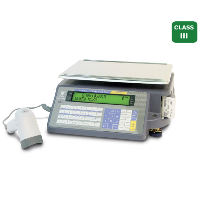 DIGI DC-300 Label Printout Counting Scale